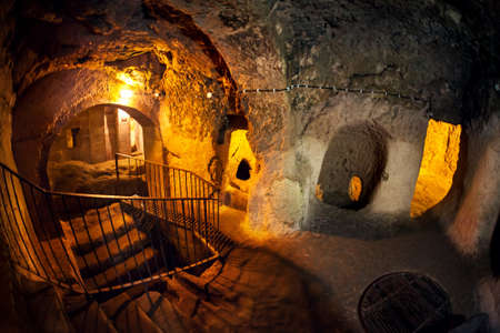 Derinkuyu grotstad in Cappadocia Turkije