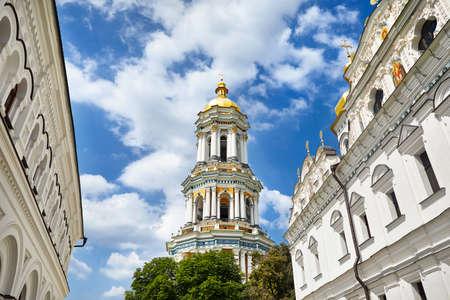Old Bell Tower of Kiev Pechersk Lavra. Old historical architecture in Kiev, Ukraine Stock Photo