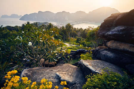 Beautiful scenic of Koh Phi Phi tropical island in Krabi Province, Thailand