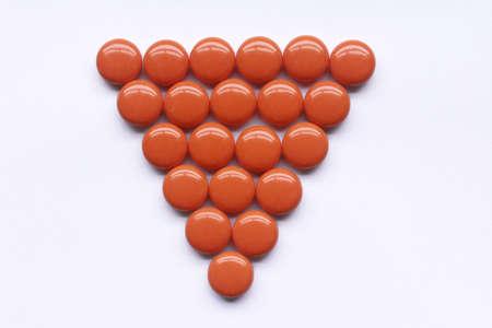 vitamins orange color Stock Photo