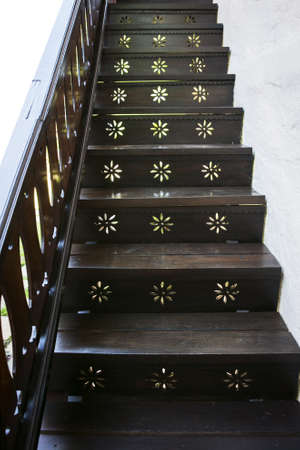 Black wood stairs Stock Photo - 17235151