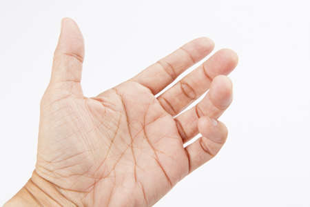 Hand like holding mobile phone, card, tablet pc or smth else Stock Photo - 17235074
