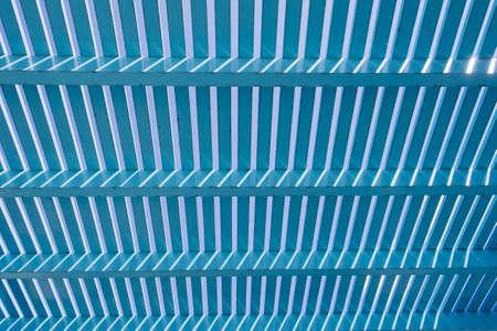 lath: Blue wood lath background Stock Photo