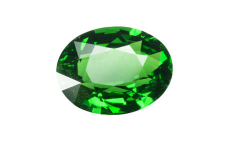 dazzlingly: Front view emerald isolated on white
