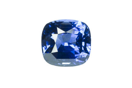 tsavorite: Blue sapphire  isolated on white0