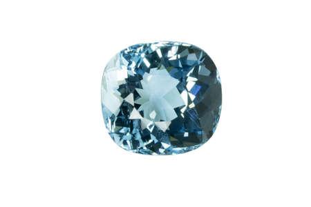 topaz: Blue topaz isolated on white background
