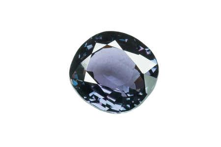 tsavorite: Blue sapphire  isolated on white0
