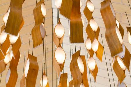 Modern hanging lamp Stock Photo
