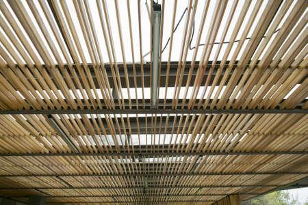 lath: Wood ceiling lath