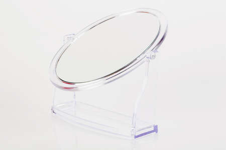 Side view silver makeup mirror photo