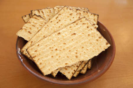 seyder: Matzos - jewish passover bread Stock Photo