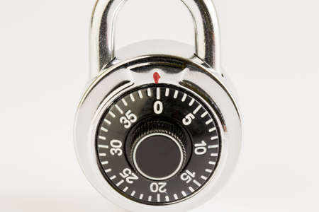 Combination lock on white background Stock Photo - 19218598