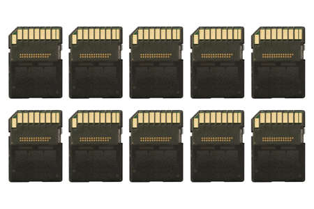 sd: Row of sd memory cards