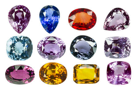 Bright gems on a white background Stock Photo - 19218317