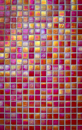 Red ceramic floor tiles closeup texture Stock Photo - 19218620