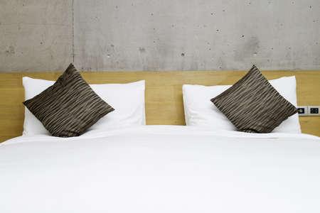 bedchamber: Modern double bedroom with hard wood furniture