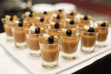 Sweet dessert in cocktail wedding party photo