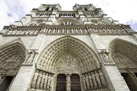 Details van de Notre-Dame de Paris, France Redactioneel