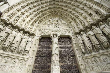 Details van Notre-Dame de Paris, Frankrijk