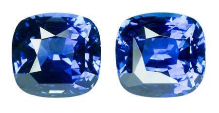 tsavorite: Blue sapphire  isolated on white