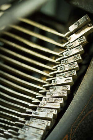 Close up of the letters on an old typewriter photo