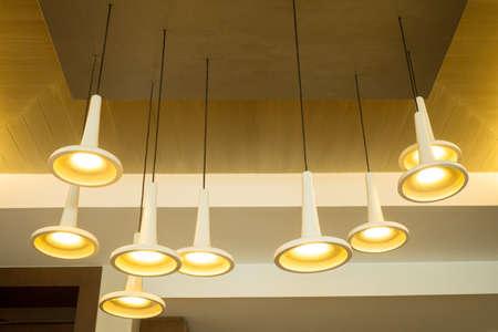Modern hanging lamp photo