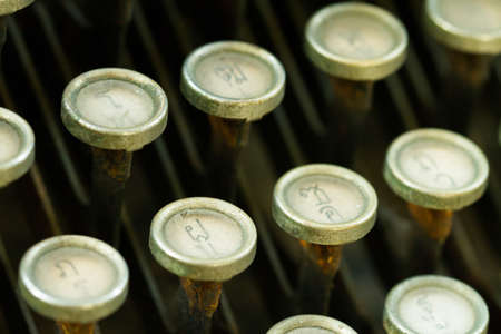 Close up of antique typewriter photo