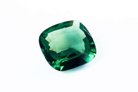 Emerald isolated on white background