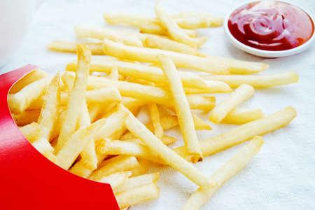 fresh potatoes fri with souce