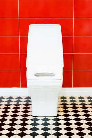 White toilet bowl in a bathroom Stock Photo - 22699485