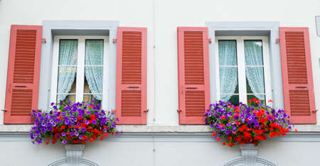 Window with flowers Stock Photo - 22699639