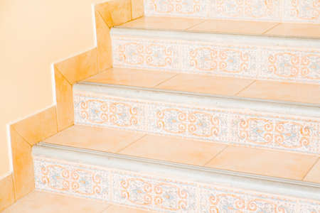 Modern white stairs photo