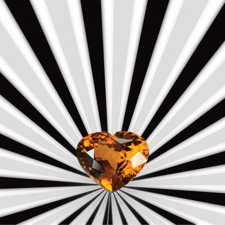dazzlingly: Yellow sapphire Stock Photo