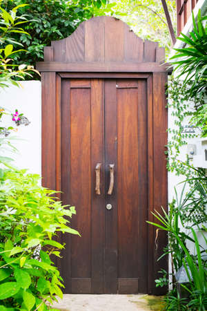 Classic wooden door photo