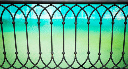 Forged metal fence photo