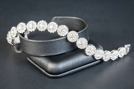 Diamonds bracelet in black background