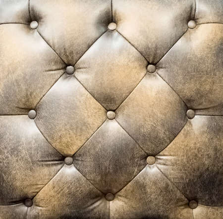 antique furniture: Leather wallpaper and background Stock Photo