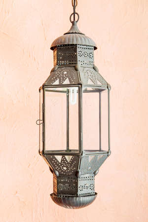 Ornate traditional moroccan lamp