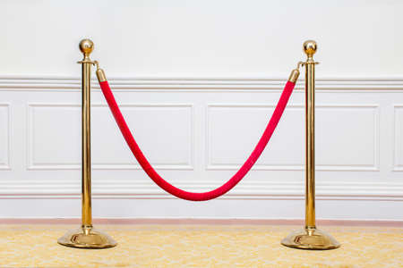 vip area: barrier at the no entry area of the cozy bright room Stock Photo