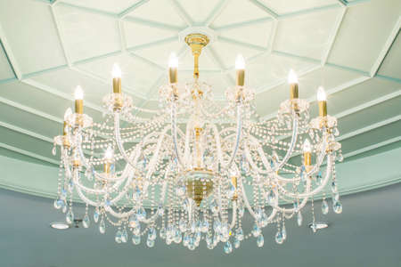 chandelier in classicroom shining