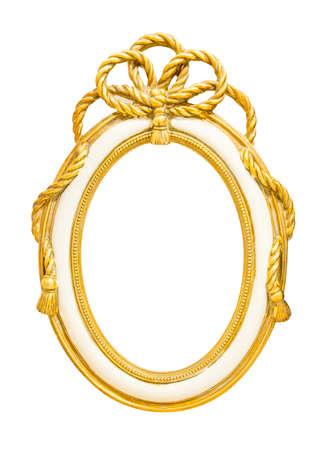 golden vintage style frame isolate on white background photo