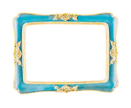 beautiful vintage frame on white background photo