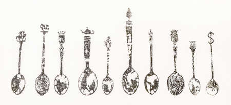 Collection of Vintage Spoon photo