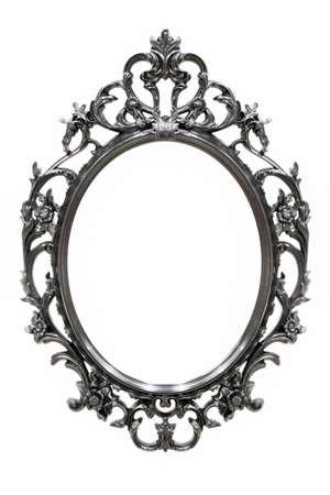 Schwarz Vintage-Rahmen auf weißem Hintergrund