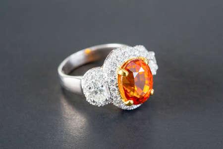 diamond rings: diamond rings on the black background