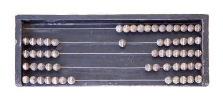 Vintage Abacus Place isolate On white Background