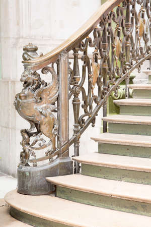 Ornate handrail of wrought iron photo