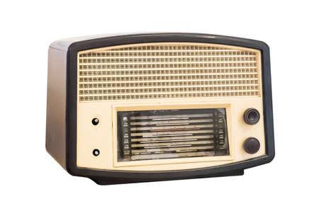 Old radio. Realistic illustration of an old radio receiver of the last century. illustration