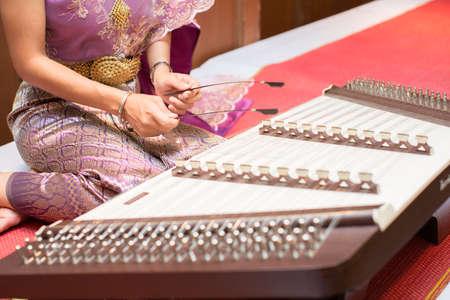 thai musical instrument: thai wooden dulcimer musical instrument
