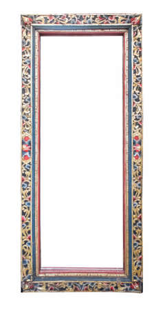 mirror frame: antique mirror frame isolated on white background